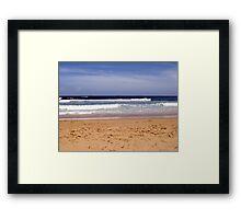 Bar Beach Waves Jan 2008 Framed Print