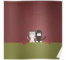 Cats in love Poster