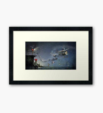 """""""Cape Town""""  Illustration M.Konecka for """"Destin de carte postale"""" Framed Print"""
