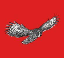 Great Grey Owl in flight Baby Tee