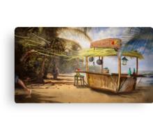 """Denpasar""  Illustration M.Konecka for ""Destin de carte postale"" Canvas Print"