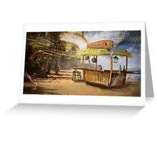 """""""Denpasar""""  Illustration M.Konecka for """"Destin de carte postale"""" Greeting Card"""