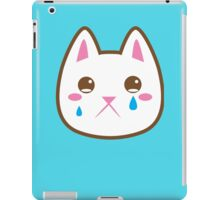 Super cute Chibi Kawaii kitten SAD :( iPad Case/Skin
