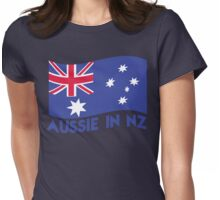 Aussie in NZ with Australian Flag great for a trip to New Zealand Womens Fitted T-Shirt