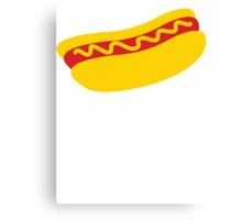 A single hot dog with mustard YUM! Canvas Print