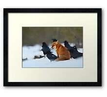 Moment with ravens Framed Print