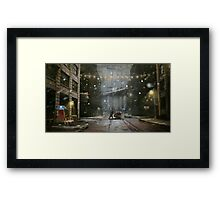 """Brooklyn""  Illustration M.Konecka for ""Destin de carte postale"" Framed Print"
