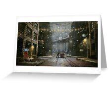 """Brooklyn""  Illustration M.Konecka for ""Destin de carte postale"" Greeting Card"