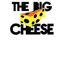 THE BIG CHEESE like a boss cheesy humour! Photographic Print
