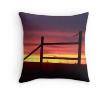 Fence Post in Pink Throw Pillow