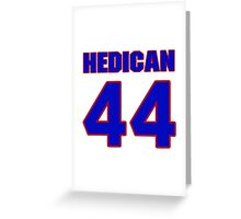 National Hockey player Bret Hedican jersey 44 Greeting Card