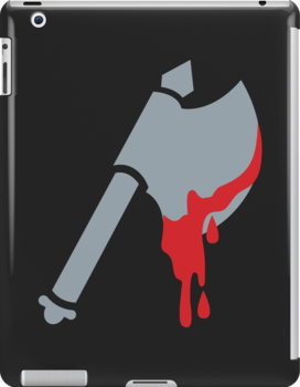 Medieval Viking Axe with dripping blood by jazzydevil