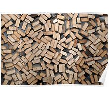 Holzstoß / Pile of Wood Poster