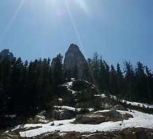High on the mountain top. by Valerie
