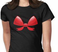 Cute little red BOW Womens Fitted T-Shirt