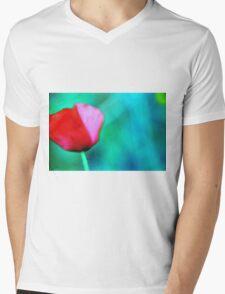 Lonely papavero Mens V-Neck T-Shirt