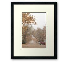 Small Town Autumn Framed Print