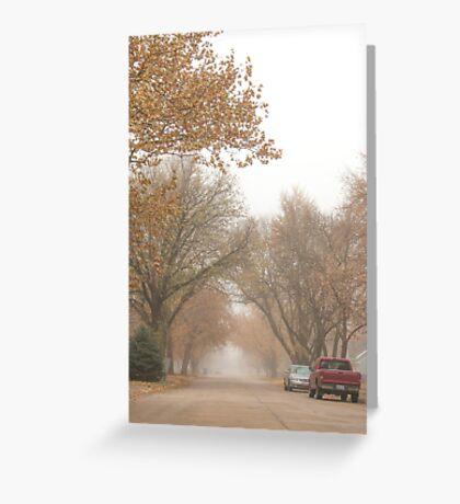 Small Town Autumn Greeting Card