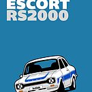 Fortitude's Ford Escort Mark 1 RS2000 Poster by twainf