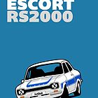 Fortitude's Ford Escort Mark 1 RS2000 Poster by Twain Forsythe