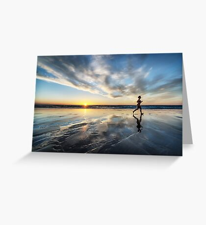 Sunset Run Greeting Card