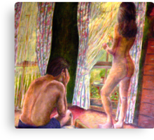 What Happens in the Bedroom Canvas Print