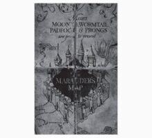 Marauder's Map - Black and White T-Shirt