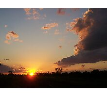An Outback Sunset Photographic Print
