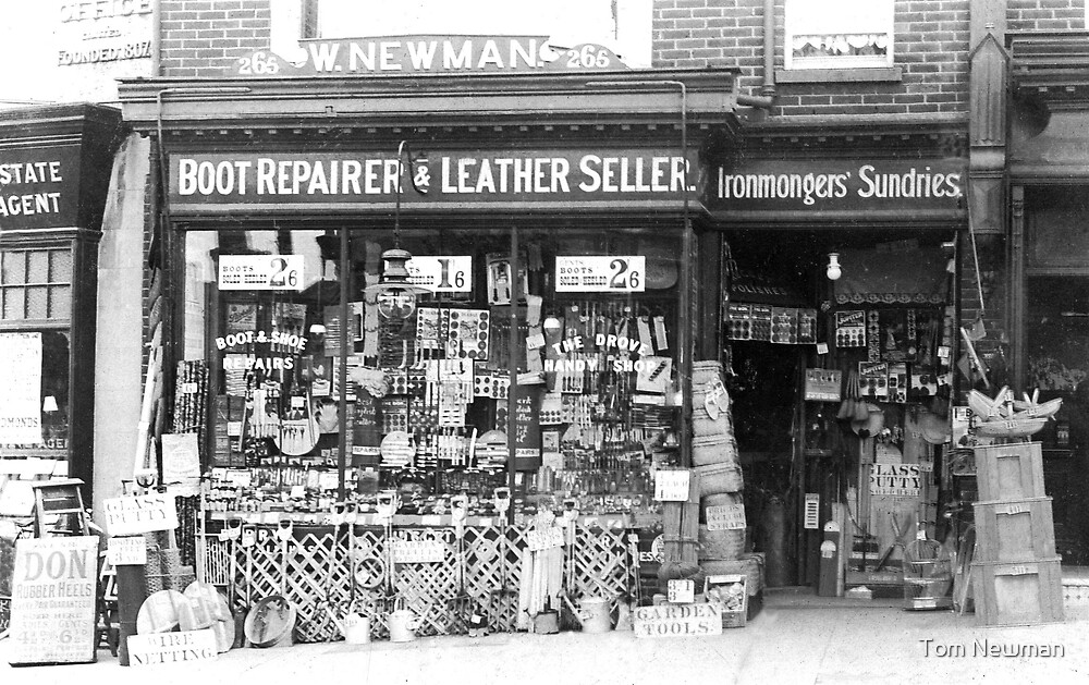 W. Newman's Ironmonger's Shop by Tom Newman
