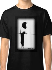 Magpie Black and White T-shirt Classic T-Shirt