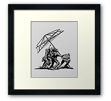 Raising the Line Framed Print