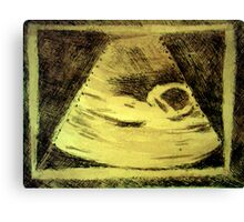 Ultrasound  Etching Print Canvas Print