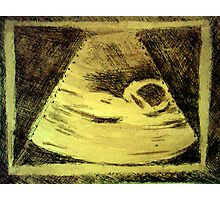 Ultrasound  Etching Print Photographic Print