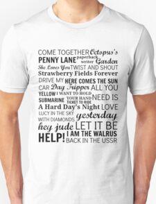 The Beatles Songs T-Shirt