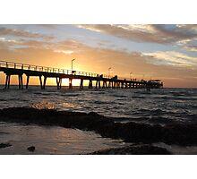 Largs Bay Sunset. Sth. Aust. Photographic Print