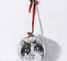 Christmas cat by MoniqueGeurts