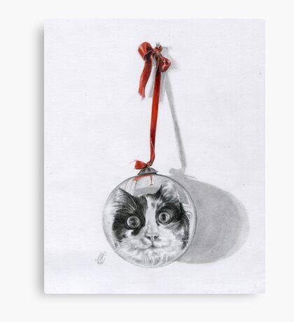 Christmas cat Canvas Print