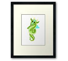 Cutie Hairy Dragon Framed Print
