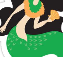 Green lady mermaid Sticker