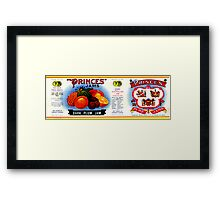 AJC Label: Princes Jams Framed Print