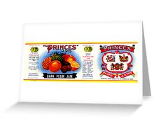 AJC Label: Princes Jams Greeting Card