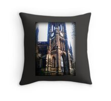 Church near the Haymarket in Newcastle Throw Pillow