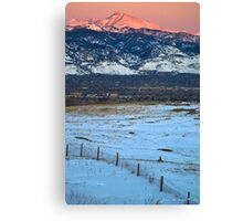 Daybreak Along the Front Range Canvas Print