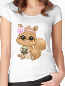 Baby Squirrel Women's Fitted Scoop T-Shirt