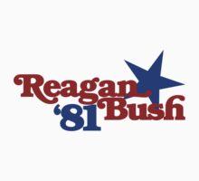 Reagan Bush 1981 Kids Tee