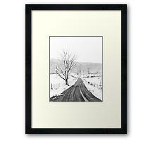 McGee Cove Road Framed Print