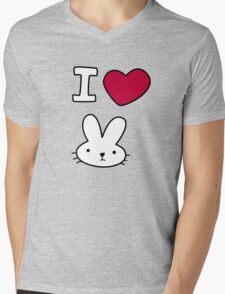 I<3Bunny Mens V-Neck T-Shirt