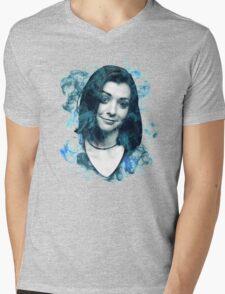 Splatter Willow Mens V-Neck T-Shirt