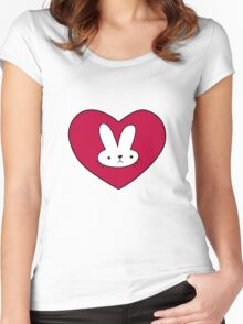 Adventure Time Bunny Women's Fitted Scoop T-Shirt