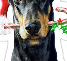 Doberman Christmas Sticker